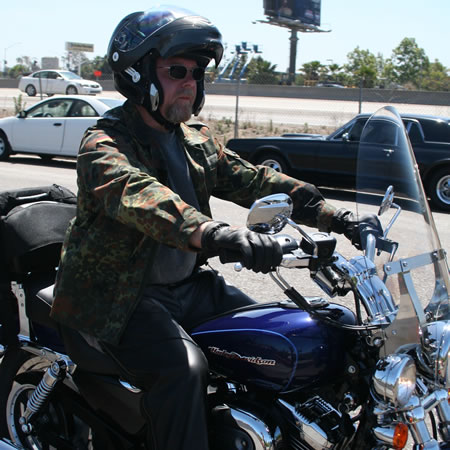 Me, riding my Sportster, 2007